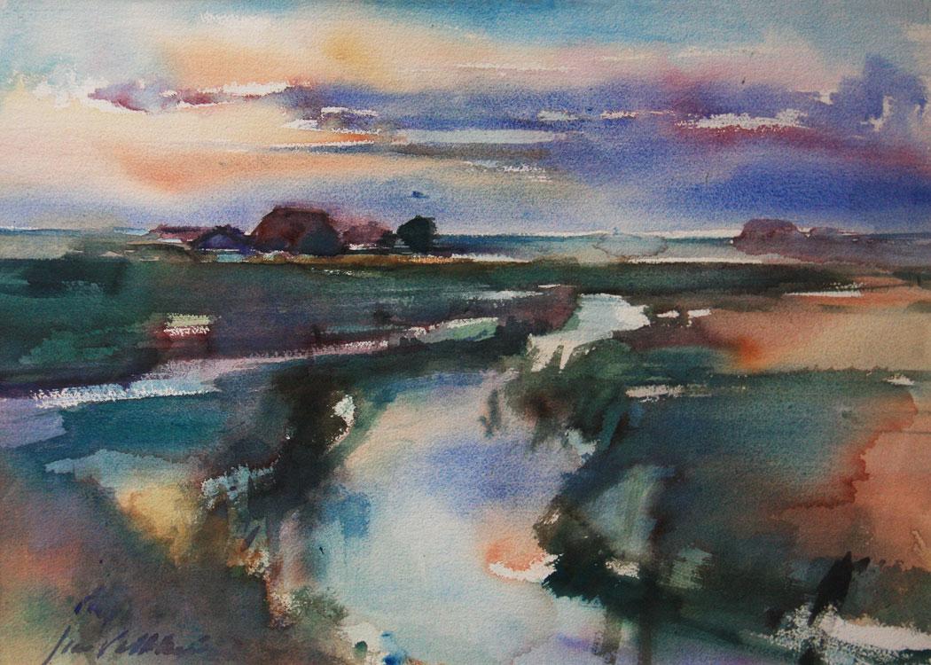 Voorkeur Abstract landschap schilderen..Met acryl schilderen en aquarelleren, @XD68