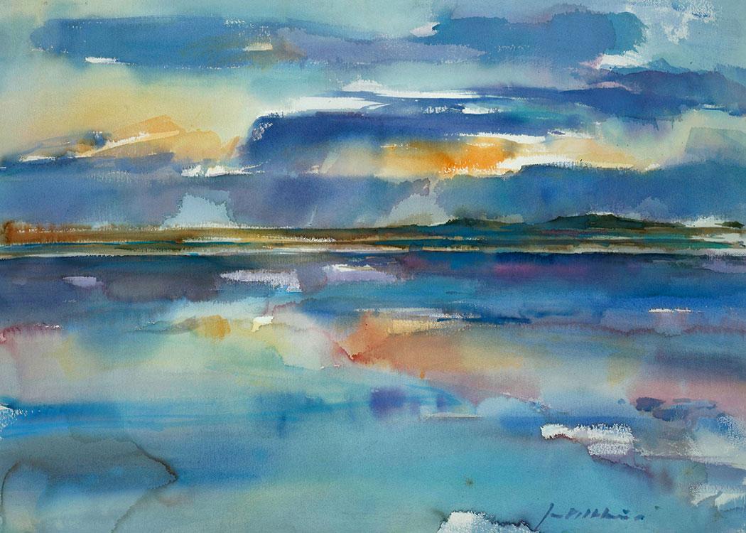Vaak Abstract landschap schilderen..Met acryl schilderen en aquarelleren, @DN63